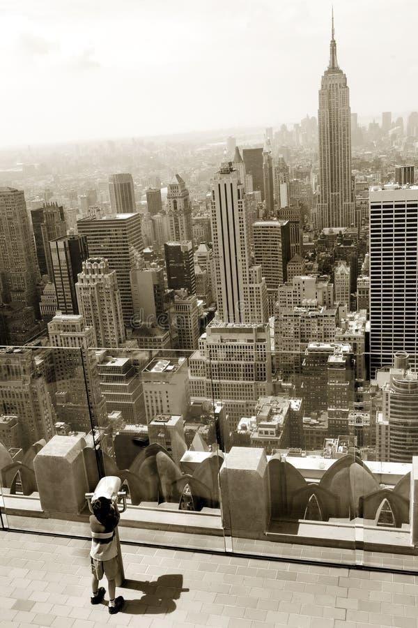 Het bekijken in Manhattan royalty-vrije stock afbeeldingen
