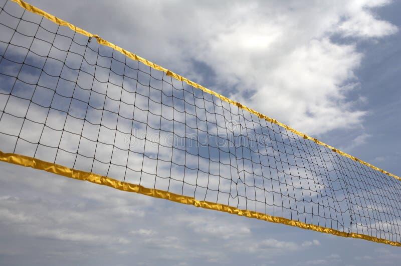 Het bekijken omhoog netto volleyball royalty-vrije stock foto's
