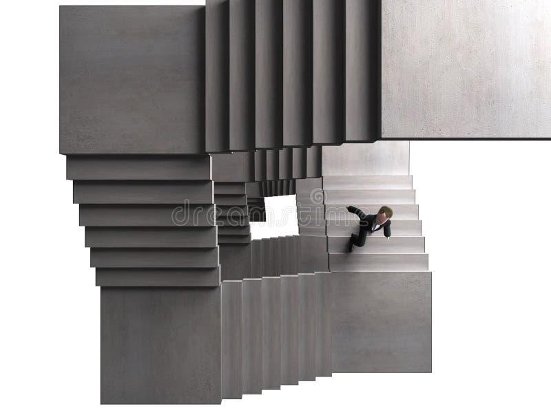 Het beklimmen stock illustratie