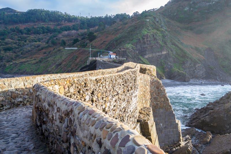 Het beklimmen aan San Juan de Gaztelugatxe royalty-vrije stock fotografie