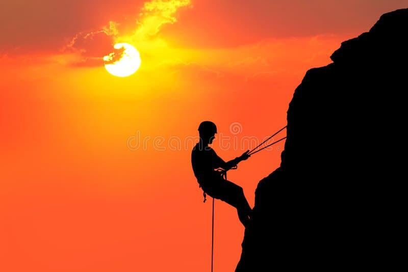 Het beklimmen aan zon royalty-vrije stock afbeelding