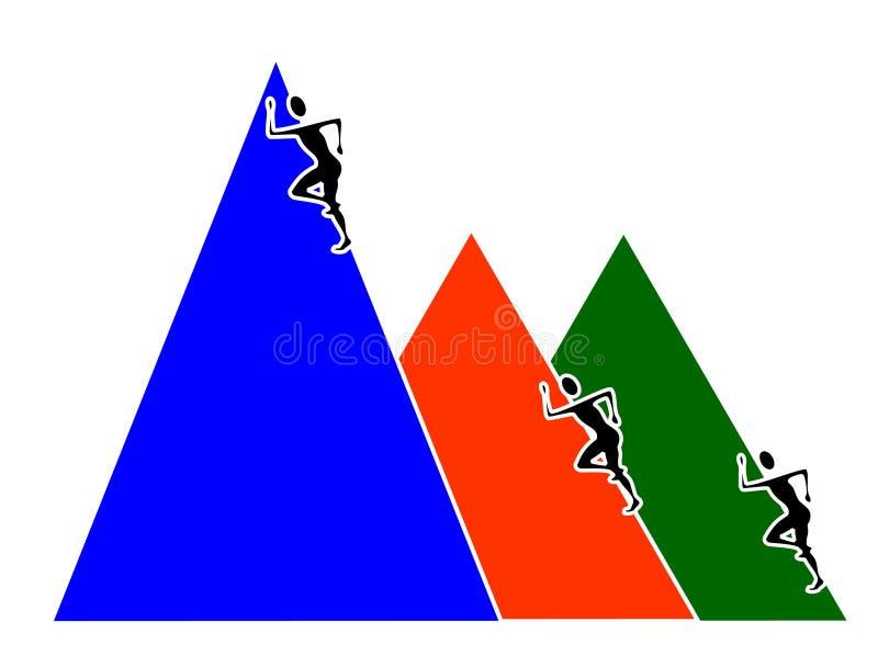 Het beklimmen tot de bovenkant stock illustratie