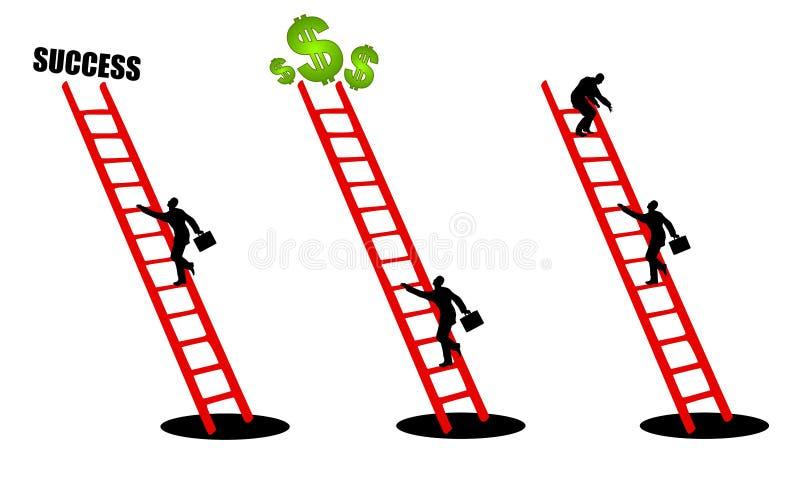 Het beklimmen van de Ladder van Succes 2 vector illustratie