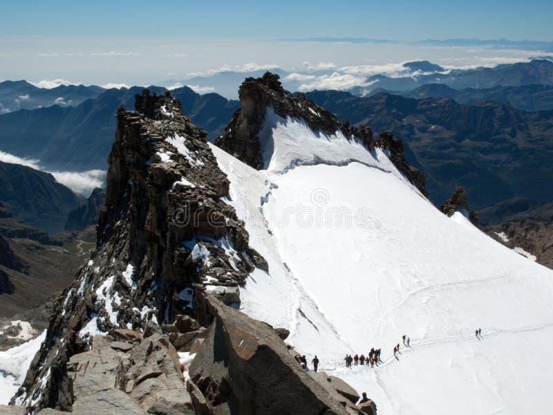 Het beklimmen van Gran Paradiso royalty-vrije stock foto