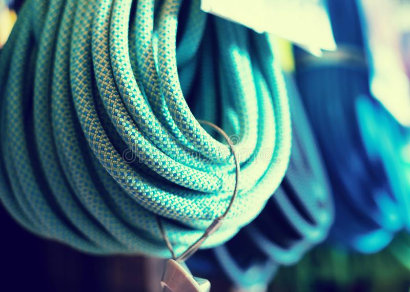 Het beklimmen van kabels voor het beklimmen royalty-vrije stock foto's