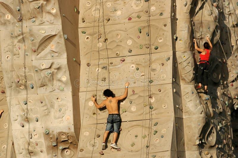 Het beklimmen van Muur I royalty-vrije stock fotografie