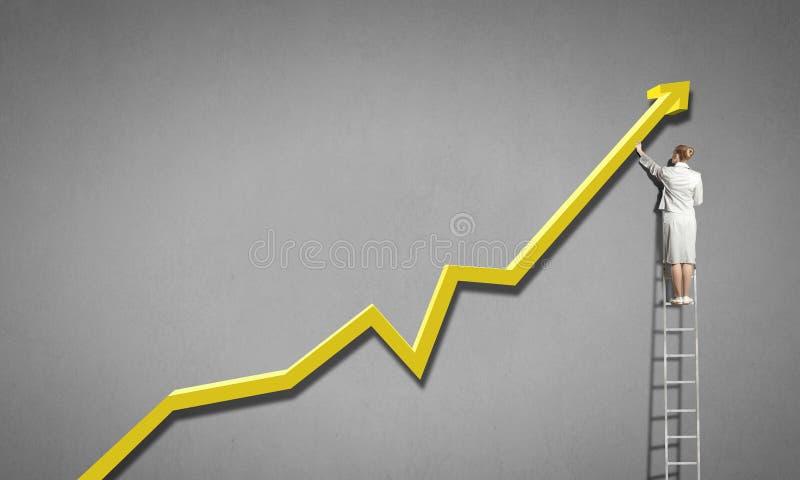 Het beklimmen van succesladder stock afbeelding