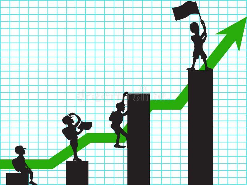 Het beklimmen in zaken vector illustratie