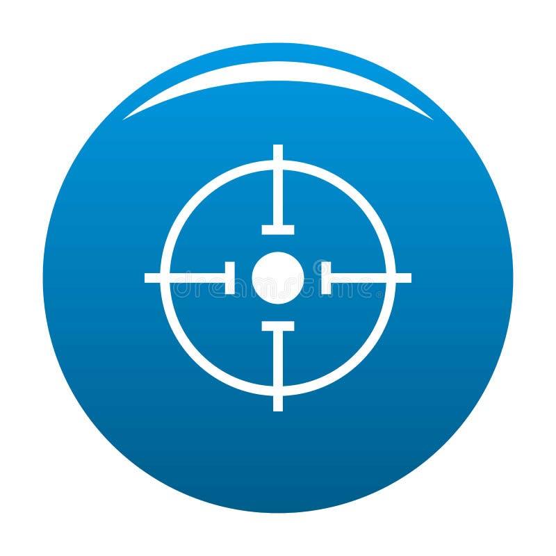 Het belangrijke blauw van het doelpictogram stock illustratie