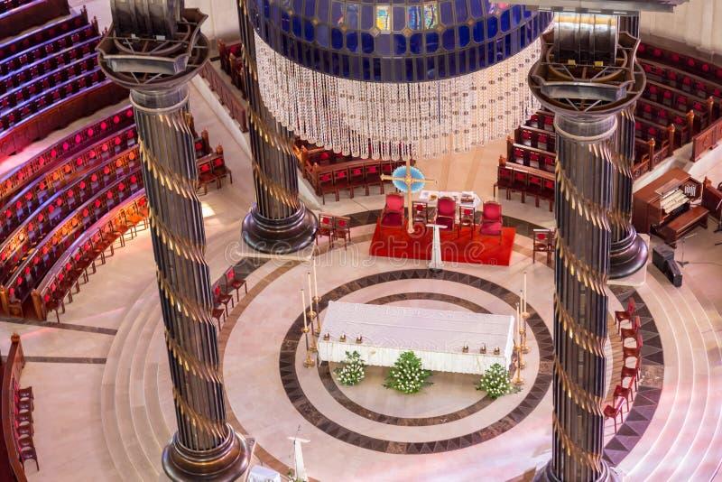 Het belangrijkste altaar van de Basiliek van Onze Dame van Vrede stock fotografie