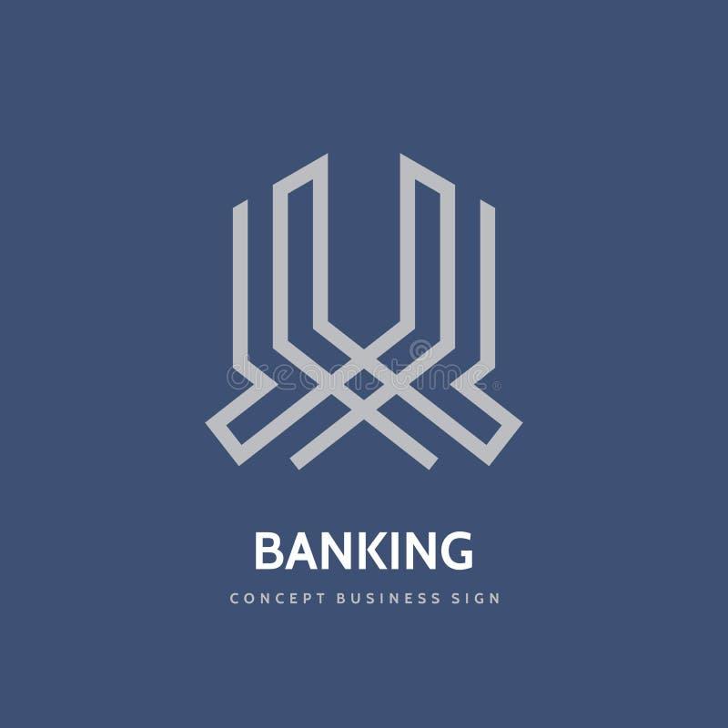 Het beleggen - concepten bedrijfsembleemontwerp Financiën creatief vectorteken Banksymbool Abstracte ontwikkelings fintech insign vector illustratie