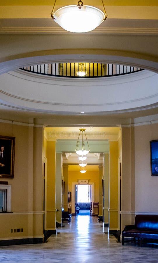 Het beleidscentrum in Augusta State Capital, Maine royalty-vrije stock afbeeldingen