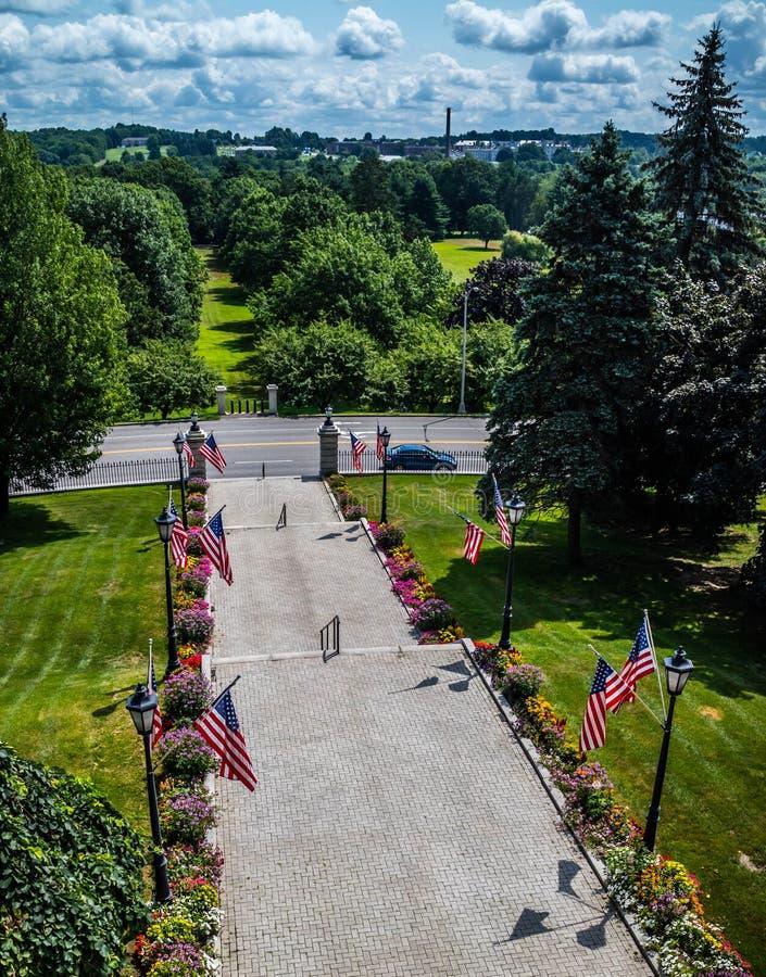 Het beleidscentrum in Augusta State Capital, Maine royalty-vrije stock fotografie