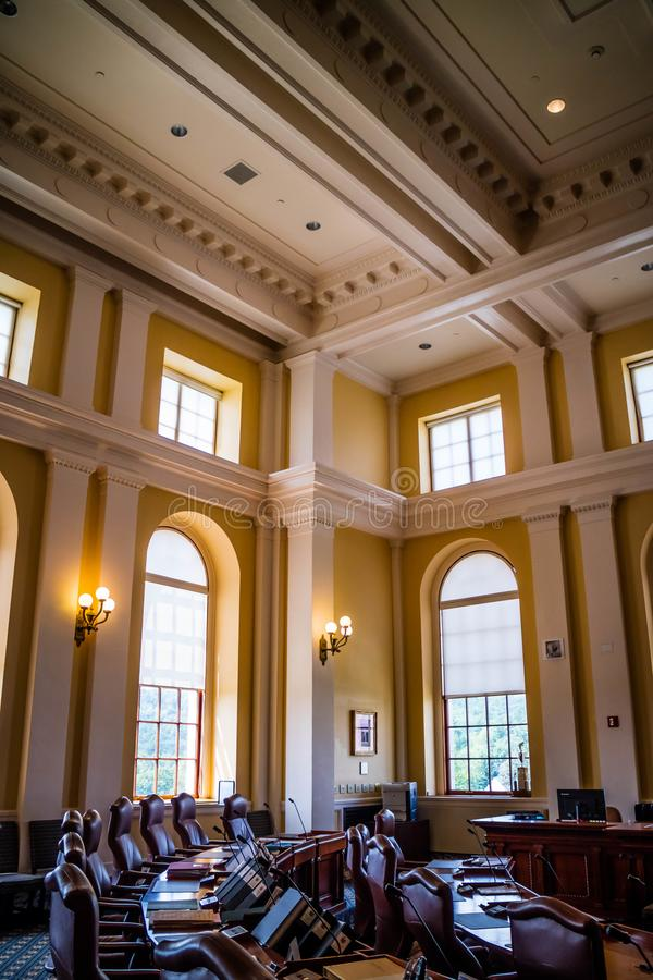 Het beleidscentrum in Augusta State Capital, Maine royalty-vrije stock afbeelding