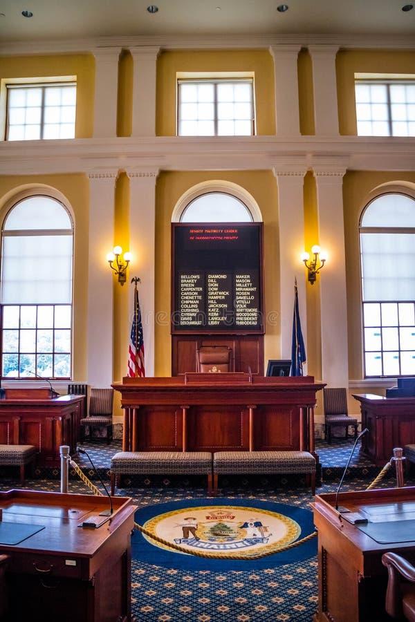Het beleidscentrum in Augusta State Capital, Maine royalty-vrije stock foto's