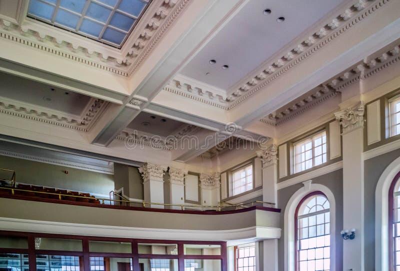 Het beleidscentrum in Augusta State Capital, Maine stock afbeelding