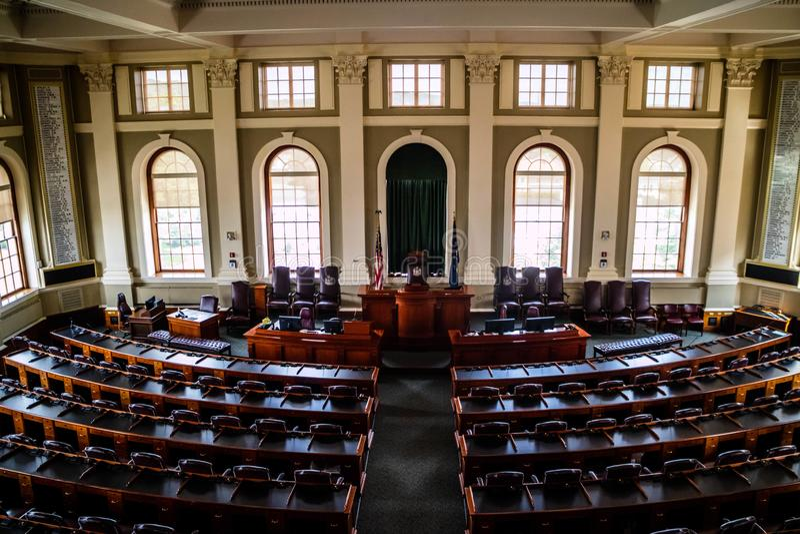 Het beleidscentrum in Augusta State Capital, Maine royalty-vrije stock foto