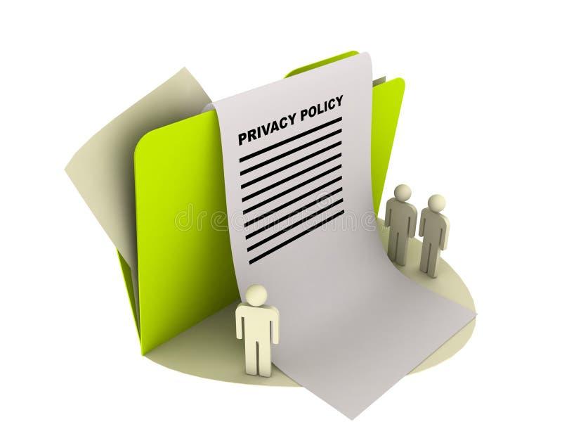 Het beleidspictogram van de privacy vector illustratie