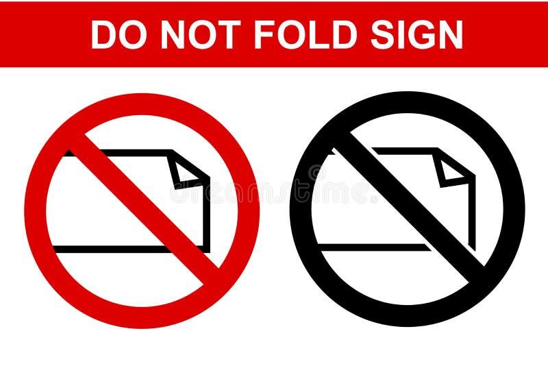 Het belemmerde Teken, vouwt niet, Geïsoleerd op Wit stock illustratie