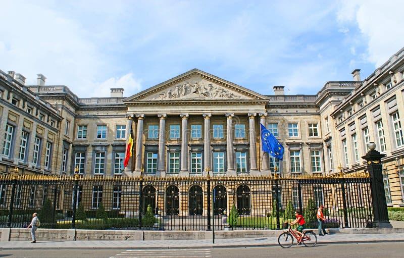 Het Belgische Parlement stock fotografie