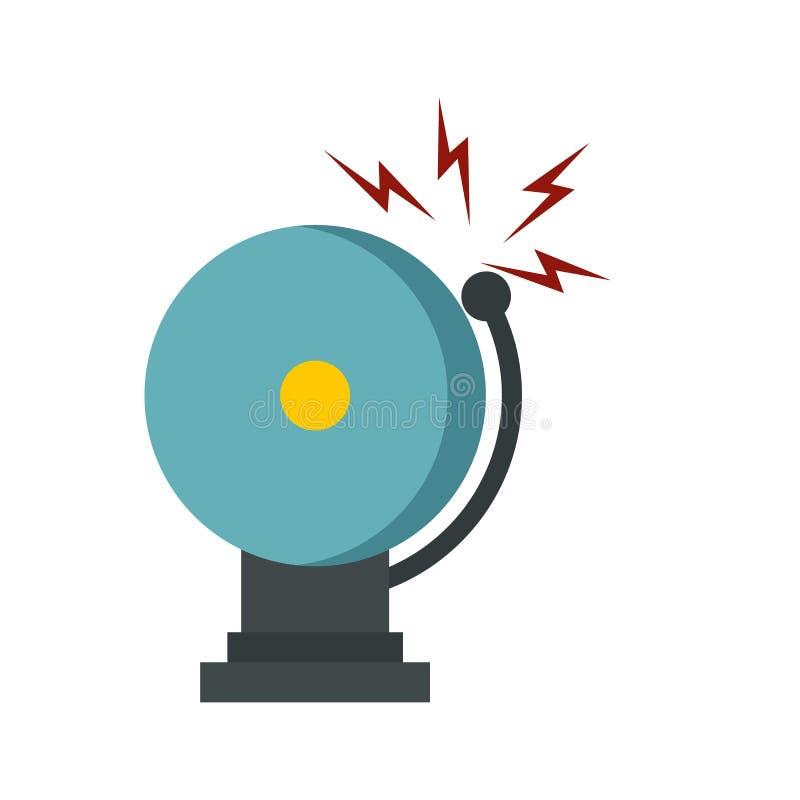Het bellende pictogram van de brandalarmklok, vlakke stijl vector illustratie