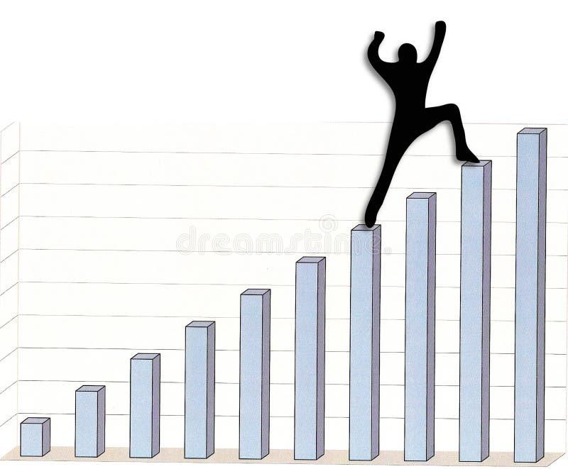 Het bereiken van de bovenkant vector illustratie