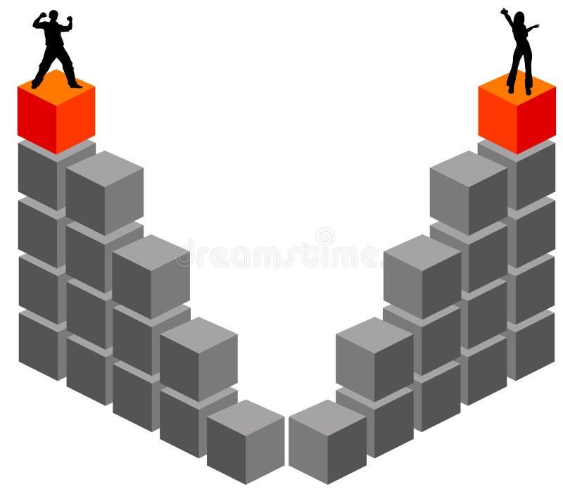 Het bereiken van de bovenkant stock illustratie