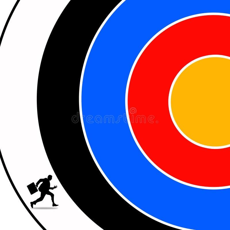Het bereiken van doel vector illustratie
