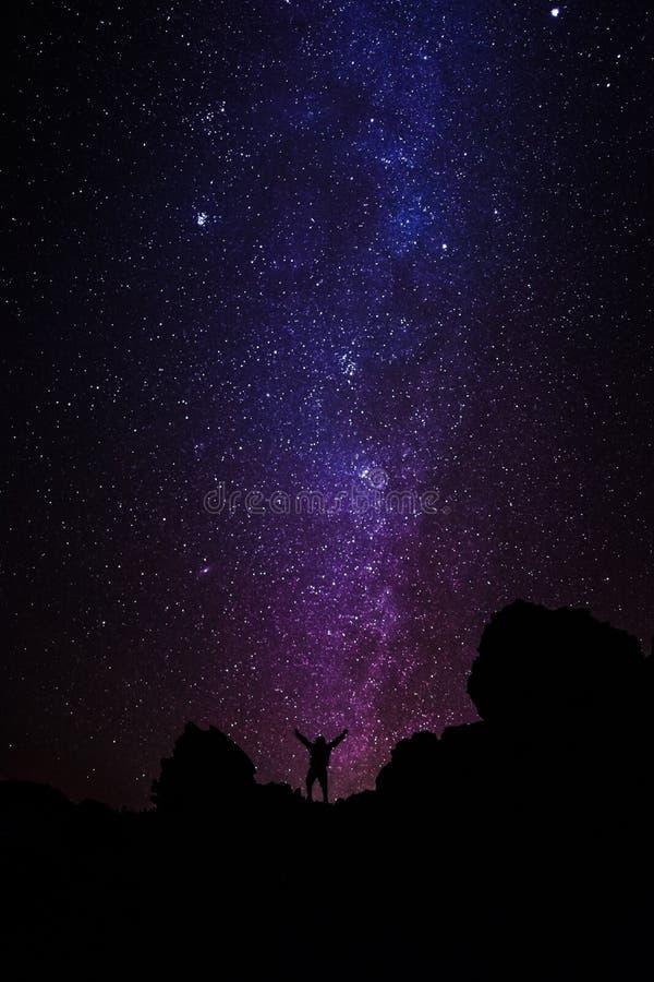 Het bereiken voor sterren stock afbeelding