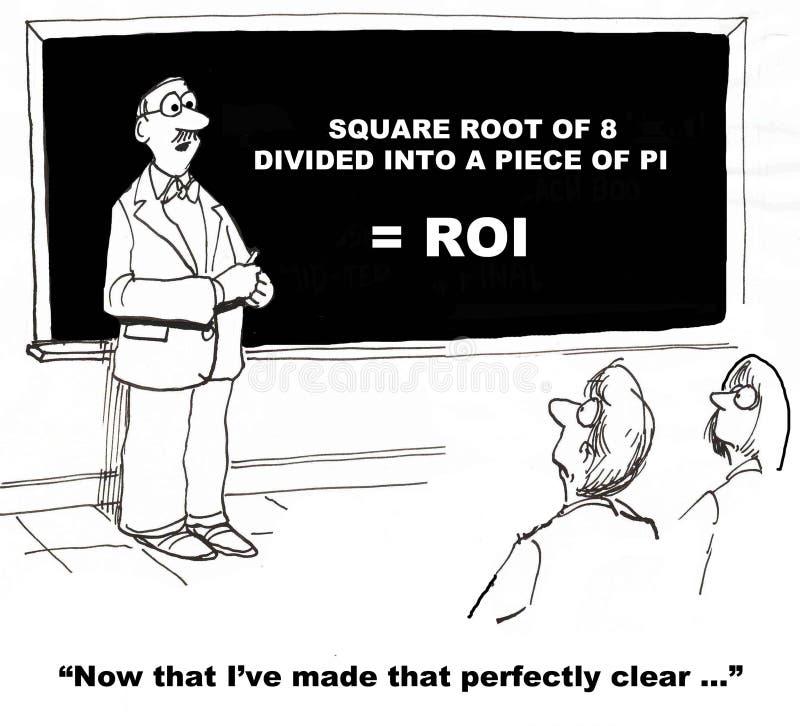 Het berekenen ROI royalty-vrije illustratie
