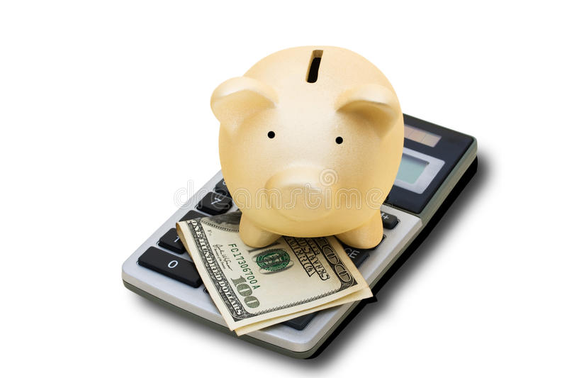 Het berekenen van uw Besparingen stock afbeelding
