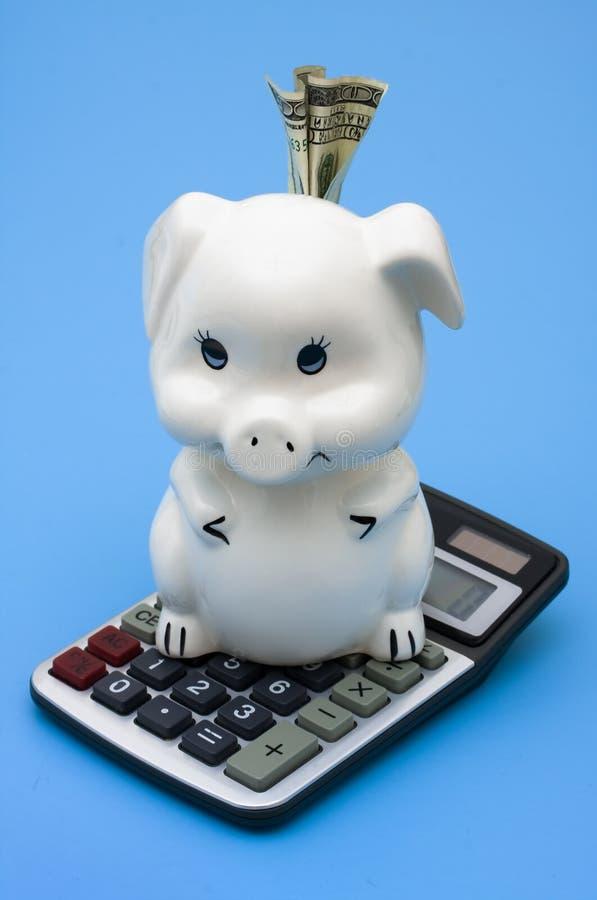 Het berekenen van uw Besparingen stock foto