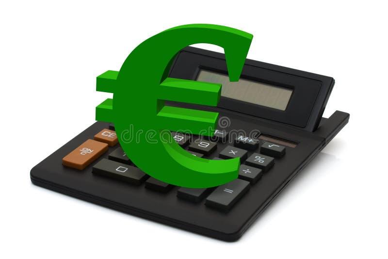 Het berekenen van uw financiën stock afbeeldingen
