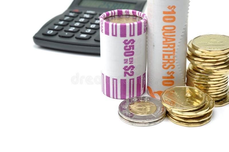 Het berekenen van uw geld stock fotografie