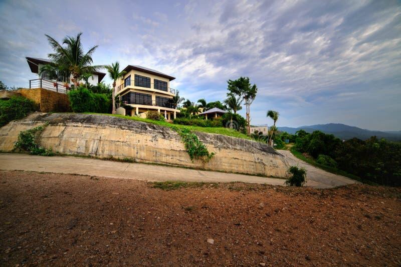 Het bergachtige landschap van Koh Samui stock fotografie