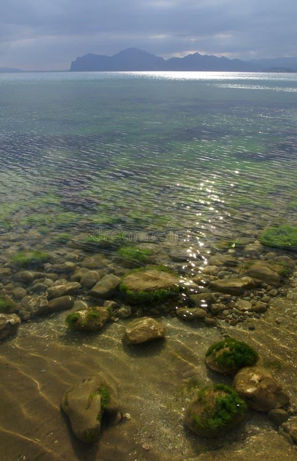 Het bergoverzees stock foto
