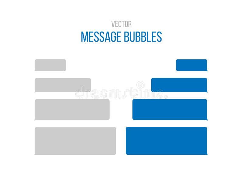 Het bericht borrelt vectorpictogrammen voor praatje Vector het ontwerpmalplaatje van berichtbellen voor boodschapperspraatje Geïs royalty-vrije illustratie