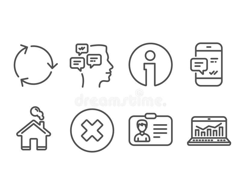 Het bericht, het Recyclings en de Identificatie van Smartphone kaartpictogrammen royalty-vrije illustratie