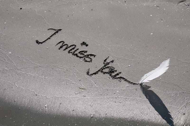 Het bericht van de eenzaamheid stock foto