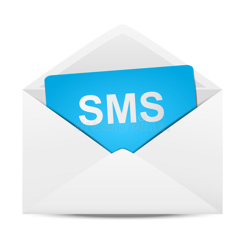 Het bericht van de envelop vector illustratie