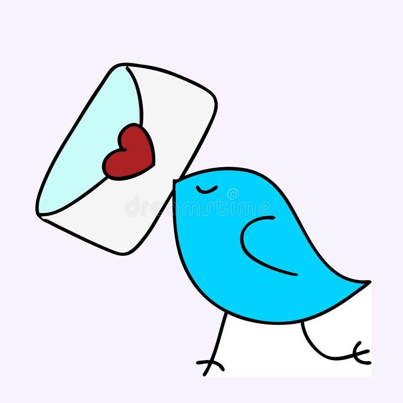 Het bericht van de liefde vector illustratie