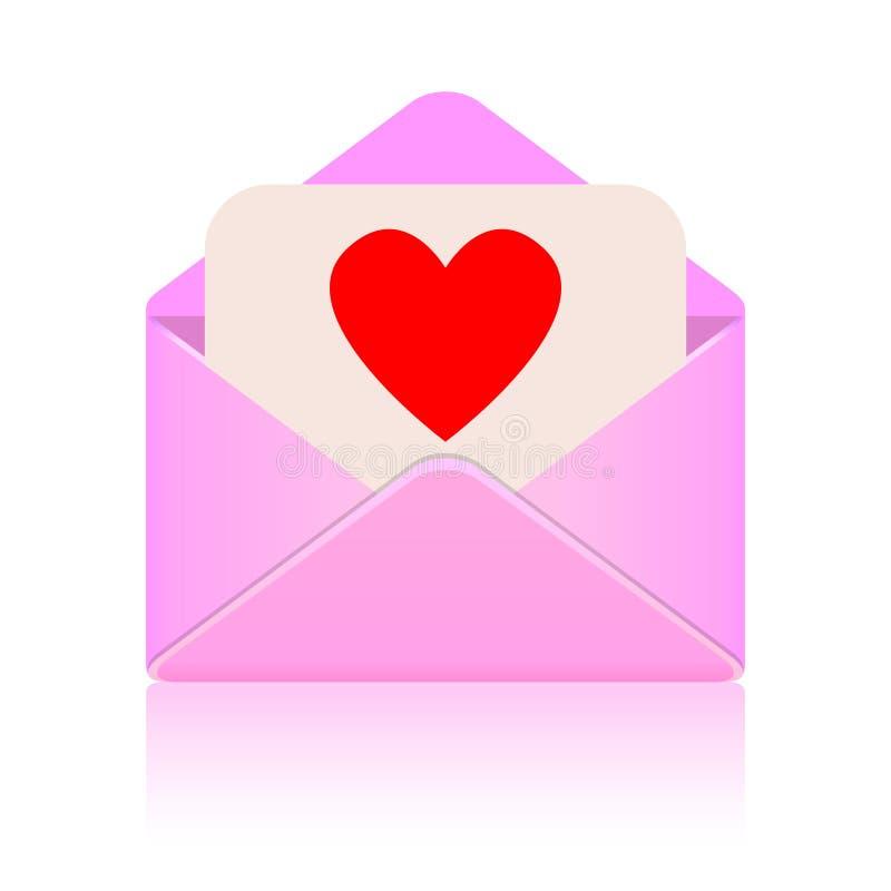 Het bericht van de liefde stock illustratie