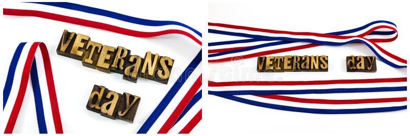 Het bericht van het het patriottismeletterzetsel van de veteranendag royalty-vrije stock afbeelding