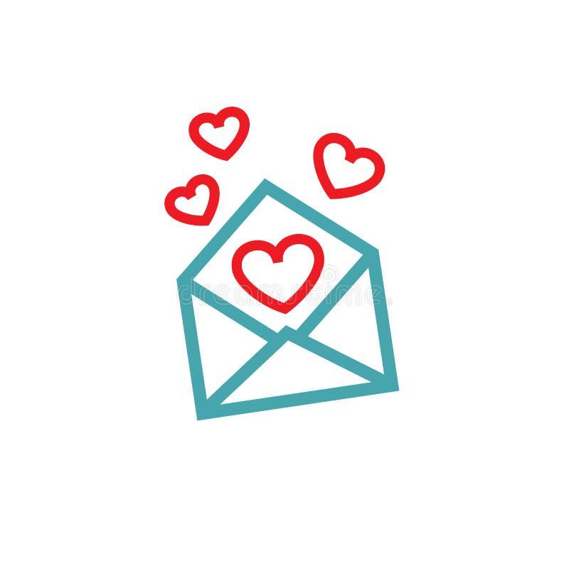 In het bericht verscheidene harten vector illustratie