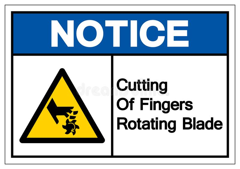 Het berichtknipsel van Vingers die het Teken van het Bladsymbool, Vectorillustratie roteren, isoleert op Wit Etiket Als achtergro royalty-vrije illustratie