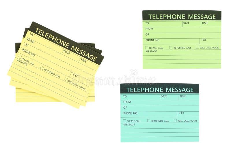 Het berichtnota van de telefoon stock foto
