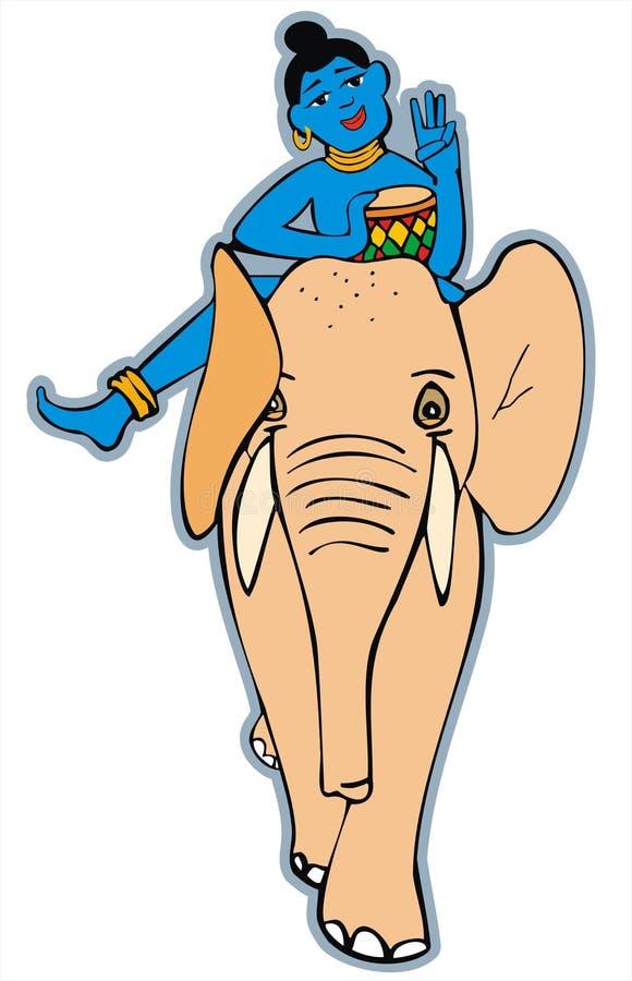 Het berijden van de olifant. India. royalty-vrije stock foto