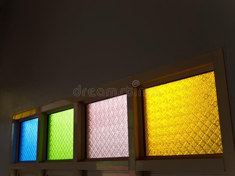 Het berijpte glas maakte multi-colored in reliëf stock fotografie