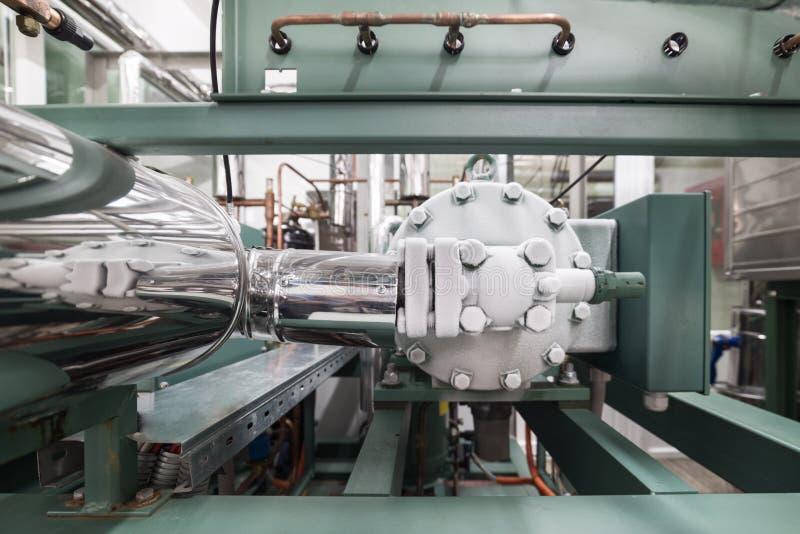 Het berijpte hoofd van de compressor van de koelende machine royalty-vrije stock fotografie