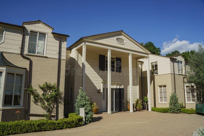 Het beroemde Boddy-Huis in Descanso-Tuin stock afbeelding